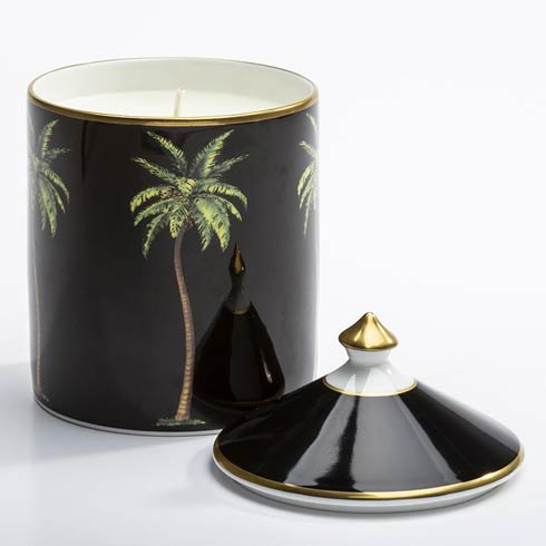 $145.00 Palm Black Lidded Candle