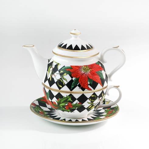 $215.00 Poinsettia Tea for One