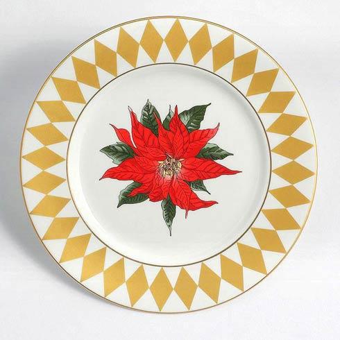 """$70.00 Poinsettia 6"""" Plate"""