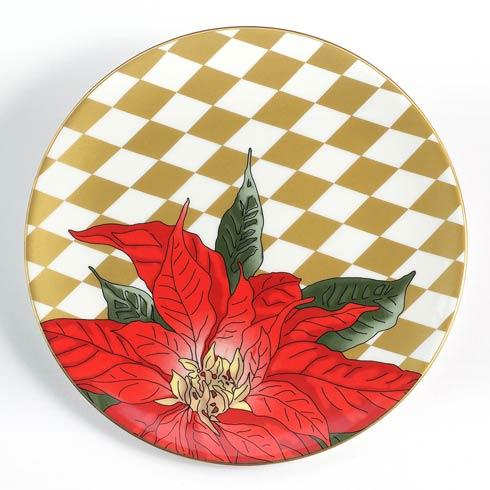 """$85.00 Poinsettia 8"""" Coupe Plate"""