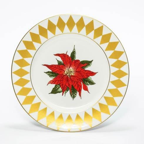 "$85.00 Poinsettia 8"" Rim Plate"