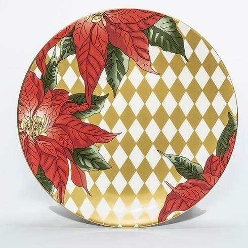 """$100.00 Poinsettia 10"""" Coupe Plate"""