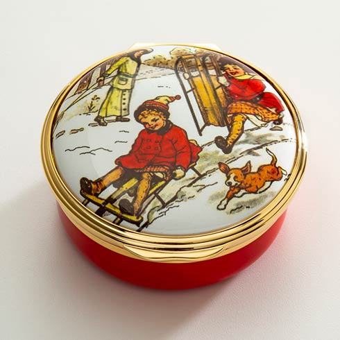 $250.00 Winter Sledging Party Enamel Box