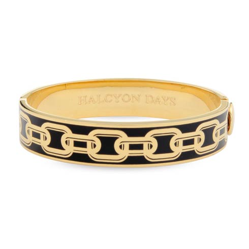 $225.00 Black & Gold Hinged Bangle