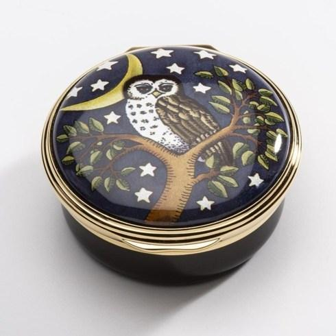 $250.00 Too-wit too-woo Enamel Box