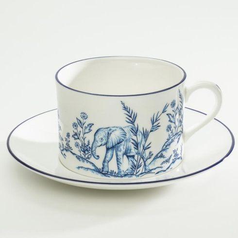 $98.00 Serengeti Elephant Tea Cup & Saucer