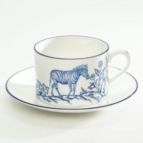 $98.00 Serengeti Zebra Tea Cup & Saucer