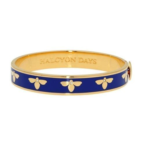 $200.00 Bee Deep Cobalt and Gold Hinged bangle