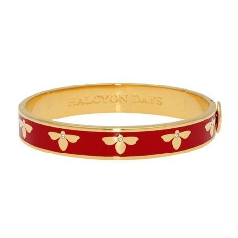 $200.00 Bee Red and Gold Hinged bangle