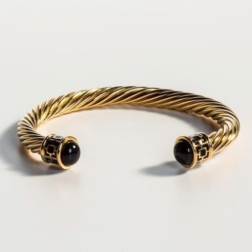 $165.00 Black & Gold Torque Bangle