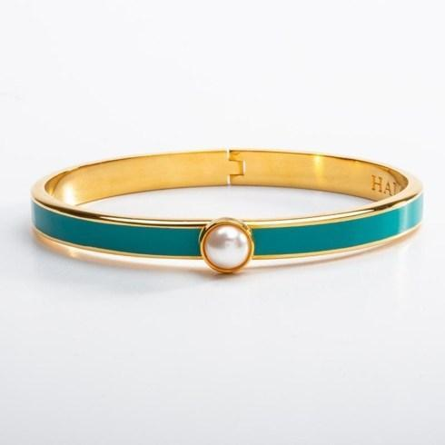 $175.00 Skinny Turquoise and Gold Hinged bangle