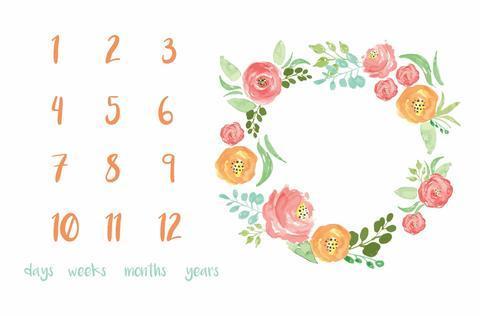 $35.00 Memory Blanket Floral Field