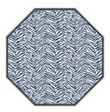 $40.50 Octagonal Placemats-Zebra/Dot Fan- Navy