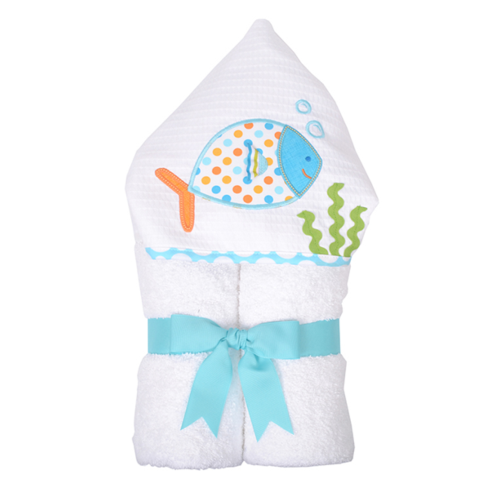 $48.95 Blue Bubble Fish Everykid Towel