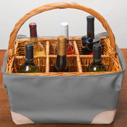 Personalized Canvas Bottle Basket collection