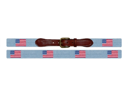 $165.00 American Flag (Antique Blue) Belt