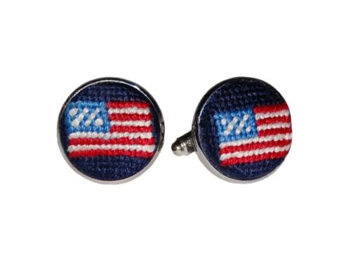 $55.00 American Flag (Navy) Cufflinks
