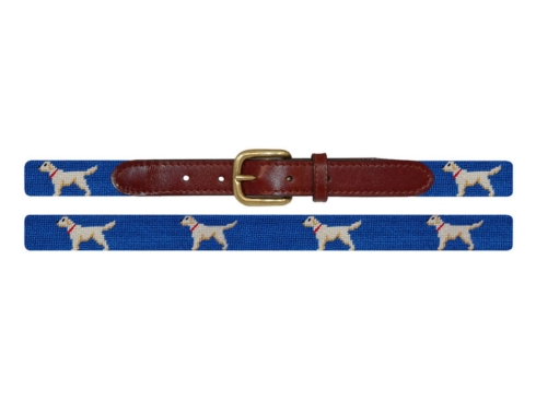 $99.50 Child\'s Blue w/Yellow Labs Belt