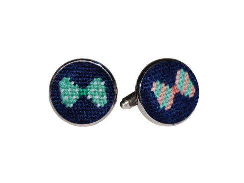 $55.00 Bow Tie Cufflinks (Navy)