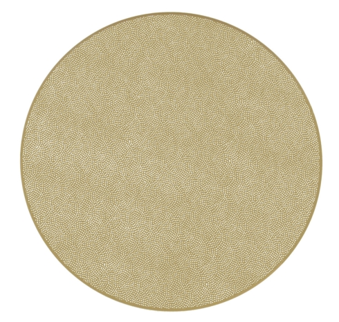 $36.95 Round Placemat (Shimmer Gold)