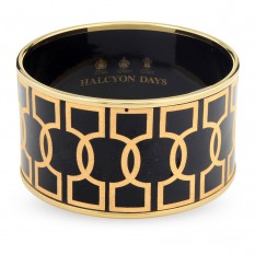 $695.00 Geometric Bangle Black/Gold