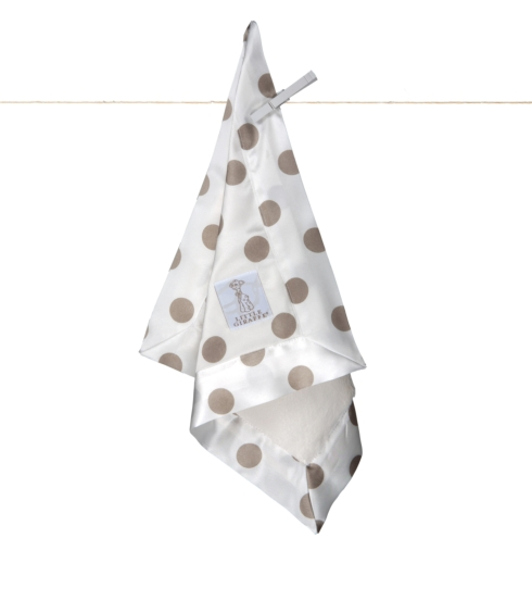 $40.00 Brown Luxe Cream Dot Blanky