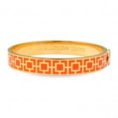 $185.00 Mosaic Bangle Orange/Gold