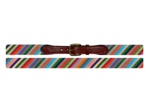 Parsons Stripe Needlepoint Belt collection with 2 products