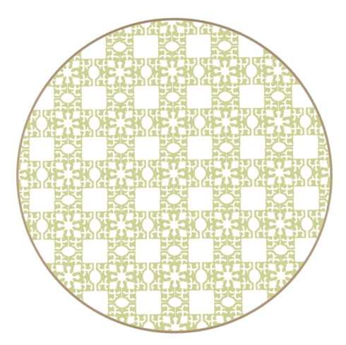$36.95 Round Placemat Moroccan