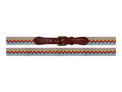 $165.00 Zig Zag Needlepoint Belt