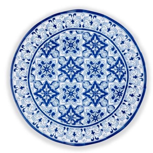 Q Squared  Talavera Talavera in Azul Blue Melamine Platter $52.00