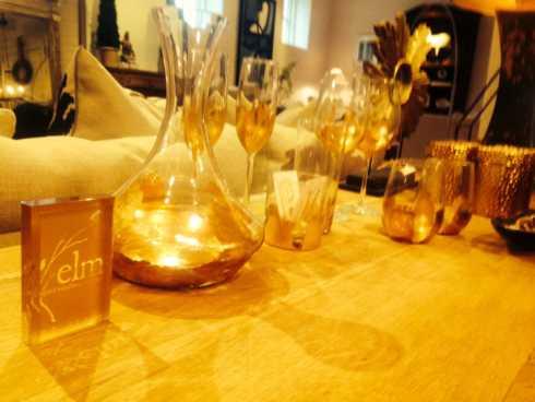 ELM Designs   Gold Leaf Decanter $90.00