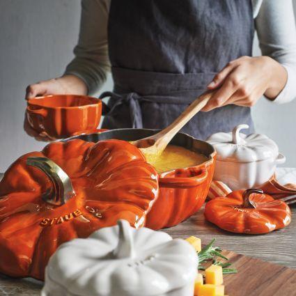 $229.00 Staub Cast Iron 3.5-qt Pumpkin Cocotte - Burnt Orange
