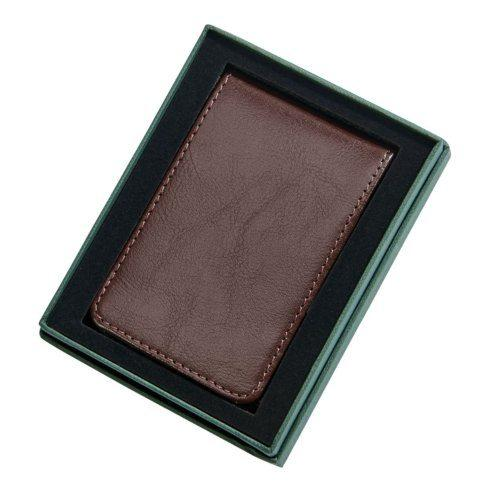 Creative Gifts   Sheridan Brown Leather Billfold Style Case With Money Clip $26.50