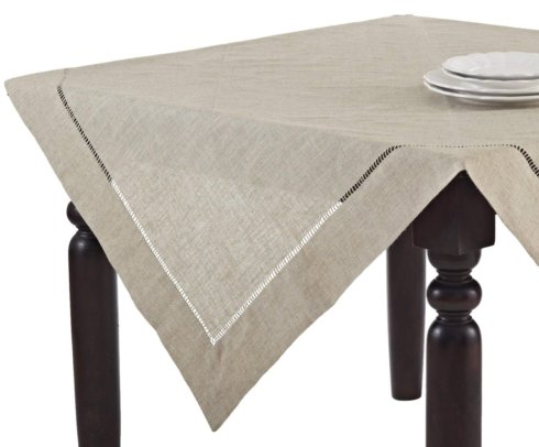 "Toscana Tablecloth Natural 60"" Square"