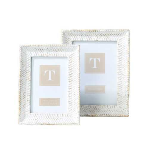 Two's Company  Frames White wash & gold 4x6 frame $22.50