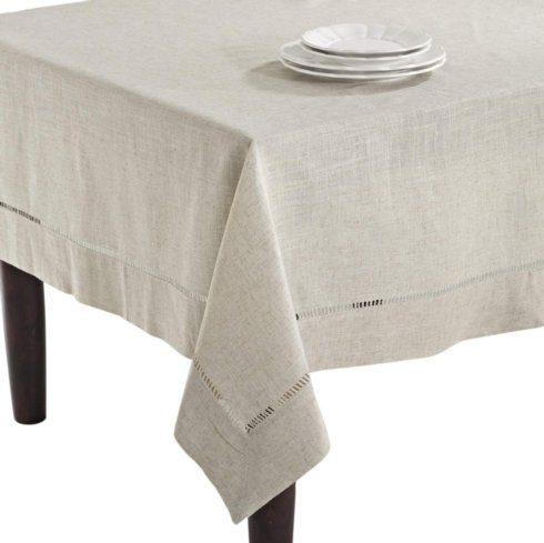 "Toscana Tablecloth Natural 80"" Square"