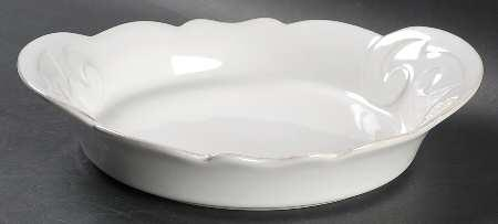 H. Hal Garner Exclusives  Casafina Arabesque White Individual Pasta Bowl $36.00