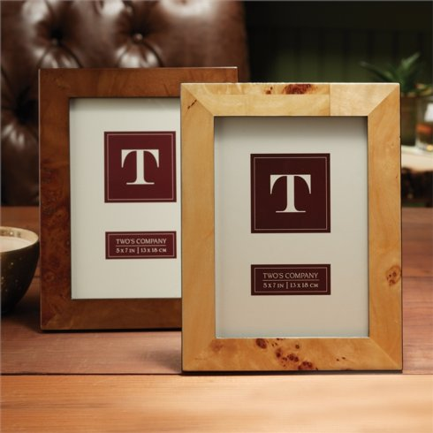Two's Company  Frames Burled Wood 5