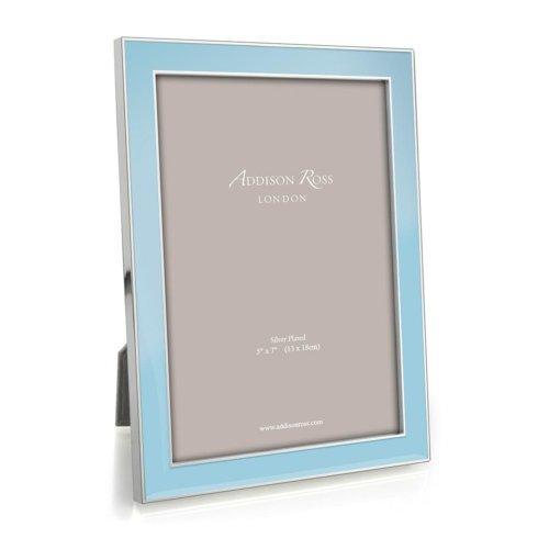 $60.00 Light Blue Enamel & Silver Frame - 15 mm frame 5x7