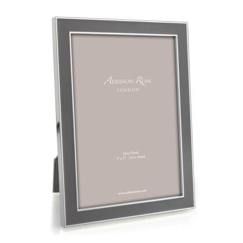 $60.00 Taupe Enamel & Silver Frame - 15 mm frame 5x7