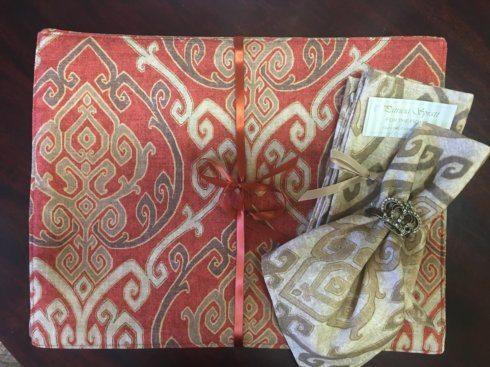 "$12.50 Stately Neutral 17"" Hemmed Napkins EACH"