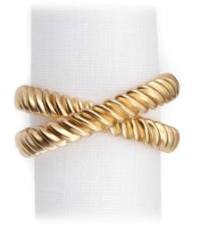 Deco Twist Gold Napkin Ring Each