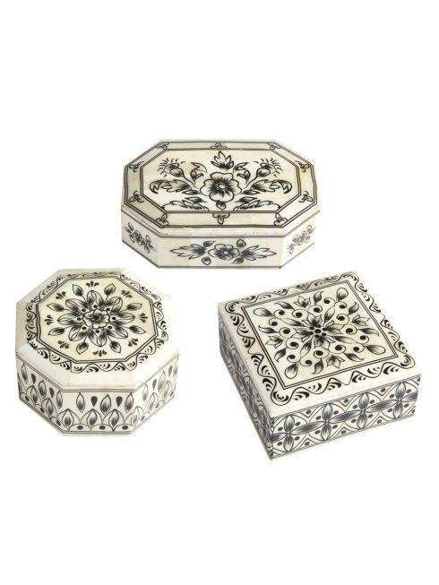 Two's Company   Laxmi Vilas Palace Hand-Painted Bone Boxes EACH $40.00