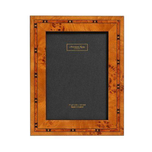 Brown Star Marquetry Photo Frame
