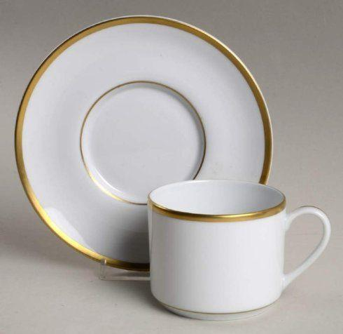 H. Hal Garner Exclusives  Pickard Signature Collection Gold White Can Cup and Saucer $90.00