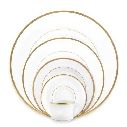 H. Hal Garner Exclusives  Pickard Signature Collection Gold Ultra White Dinner Plate $60.00