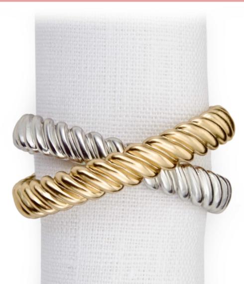 $32.00 Deco Twist Gold/Platinum Each