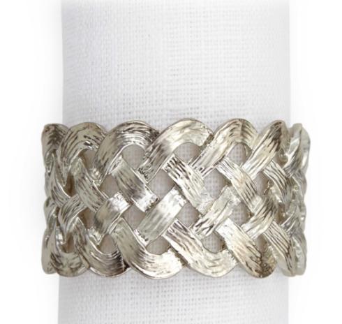 Braid Napkin Ring Platinum Each