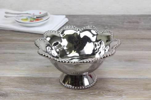 Pampa Bay   Footed Bowl 8 x 8 x 4.5 in $37.50